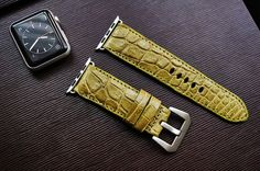 Genuine Exotic Leather Strap incl. Lugs Adapter for Apple Watch 42mm or 38mm