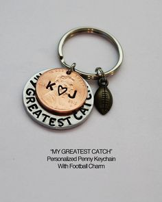 MY GREATEST CATCH Personalized Penny by JewelryImpressions on Etsy