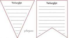 Geef een feestelijke touch aan je klas door de verlanglijstjes op te hangen aan een vlaggenlijn.