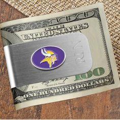 2-in-1 Engraved NFL Team Money Clip Bottle Opener
