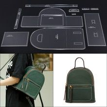 Online Shop Leather Tools Men and Women Casual Backpack Kraft Paper Stencil DIY Handmade Leather Craft Design Template Leather Bag Tutorial, Leather Bag Pattern, Tote Tutorial, Mini Mochila, Leather Gifts, Leather Craft, Handmade Leather, Leather Bags, Leather Backpack