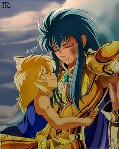 young Hyoga and Camus of Aquarius