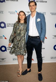 Alexandra has also crossed paths with the A-list, having attended Sir Elton John's first-ever Midsummer Party with her boyfriend Ben Sylvester Strautmann in July (pictured) John One, Family World, Princess Alexandra, Host A Party, Couture Fashion, Charlotte, Boyfriend, Daughter, Glamour