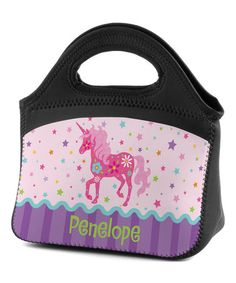 Look what I found on #zulily! Pretty Unicorn Personalized Lunch Bag #zulilyfinds