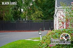 Want to see some great images of Illusions PVC Vinyl wood grain and color fence? 35 colors and 5 authentic wood grains of the best fence in the industry. Backyard Fences, Fenced In Yard, Backyard Landscaping, Yard Fencing, Farm Fence, Backyard Ideas, Garden Ideas, Vinyl Fence Panels, Vinyl Railing