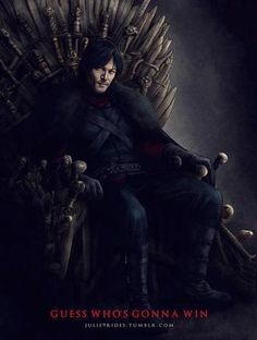 After surviving the Zombie Apocalypse, where does Daryl like to sit?  THE THRONE . . .