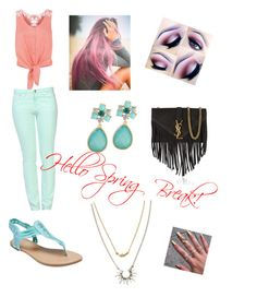 """SO HAPPY IT'S SPRING BREAK!!!"" by ggfashionlover ❤ liked on Polyvore"