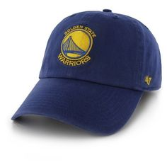 Women's '47 Clean Up Golden State Warriors Baseball Cap (333.500 IDR) ❤ liked on Polyvore featuring accessories, hats, blue, baseball caps hats, curved brim baseball cap, baseball caps, curved brim hats and '47 brand
