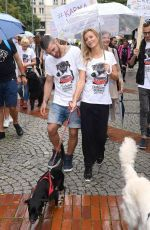 Joanna Krupa was pictured as she joined to the march 'Feed the Pets' in Warsaw http://celebs-life.com/joanna-krupa-pictured-joined-march-feed-pets-warsaw/  #joannakrupa