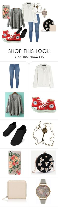 """Floral"" by waffles321 on Polyvore featuring Dorothy Perkins, Brandon Maxwell, Converse, Tiffany & Co., Rifle Paper Co, Barneys New York and Olivia Burton"