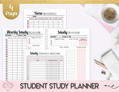 College Student Printable Planner Back To School Planner, College Planner, Student Survival Kit, Academic Planner