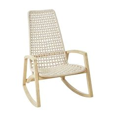 Beige Rope Rocking Chair | Pier 1 Patio Furniture Sets, Furniture Sale, Furniture Design, Outdoor Furniture, Modern Furniture, Furniture Ideas, Funky Painted Furniture, Painted Chairs, Painted Tables