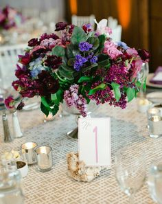 Oceanfront California Wedding at Scripps Seaside Forum from Carmen Santorelli Photography - wedding centerpiece idea