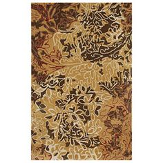 Hand-tufted Gold Wool Rug (5' x 8')