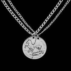 QIHE JEWELRY Animal Horse Puzzle Pendant necklace Horse jewelry Necklace for lover couple bff Gift for friends Outfit Accessories From Touchy Style Diamond Choker Necklace, Diamond Cross Necklaces, Coin Necklace, Pendant Necklace, Gemstone Earrings, Horse Necklace, Horse Jewelry, Cowgirl Jewelry, Couple Necklaces