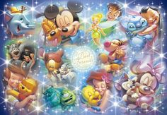 Gifts Online Today - sell Japan jigsaw puzzle, classic and out of print jigsaw puzzles to worldwide. Disney All Characters Collection - Japanese jigsaw puzzle. Cute Disney, Baby Disney, Disney Mickey, Disney Art, Disney Family, Disney Best Friends, Mickey Mouse And Friends, Minnie Mouse, Disney Jigsaw Puzzles