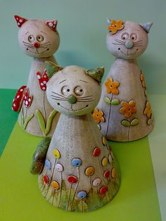 <br> result for pottery suggestions christmas - Bastelideen Pottery Animals, Ceramic Animals, Clay Animals, Clay Projects For Kids, Kids Clay, Ceramic Clay, Ceramic Pottery, Clay Cats, Sculptures Céramiques
