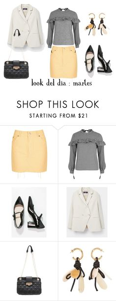 """""""look del dia : martes"""" by aliciagorostiza on Polyvore featuring moda, Topshop, MANGO y Marni"""