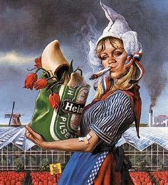 This picture shows how other countires think that a typical Dutch stereotype looks like. But in real life the Dutch people dont look like this at all. It is true that they have things like this. But I never wear wooden shoes, don't use drugs, and I never have tulips in my house. And I do know that I am a typical Dutch guy.  It is funny to see that a lot of foreign people think that this is how typical Dutch peole look like. (Kevin Ewalds)