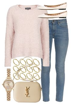 """""""Look #535"""" by foreverdreamt ❤ liked on Polyvore featuring Olivia Burton, Yves Saint Laurent, Topshop, ASOS, Valentino, women's clothing, women, female, woman and misses"""