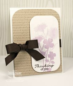 Grand Peaceful Wildflowers card by Debbie Carriere