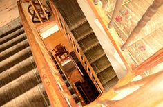 stairs to the rooms - Hotel Bella Tola