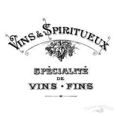 Print Transfer to Furniture & Wood - Vintage French Advert: Vins & Spiritueux | Touch the Wood