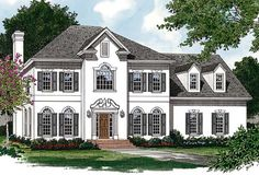 House Plan 85457   Colonial   Traditional    Plan with 3362 Sq. Ft., 4 Bedrooms, 4 Bathrooms, 2 Car Garage