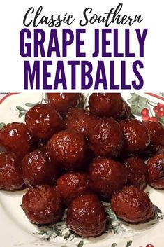 Southern Grape Jelly Meatballs are a classic Southern party food that yo. Classic Southern Grape Jelly Meatballs are a classic Southern party food that yo. - -Classic Southern Grape Jelly Meatballs are a classic Southern party food that yo. Meat Appetizers, Appetizers For Party, Appetizer Recipes, Easy Christmas Appetizers, Superbowl Party Food Ideas, Tailgate Appetizers, Southern Appetizers, Easy Party Food, Tailgate Food
