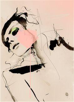 Hence   Fashion Illustration Art Print by LeighViner