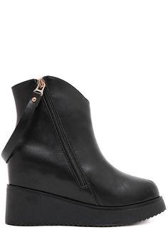 Platform sling ankle boots #shoes