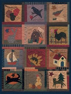 A Day in the country Wool Quilt