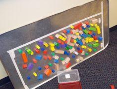 Blocks on sticky paper...