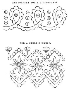 Free Victorian Embroidery Patterns | Free Printable Collage Sheet: 2 Antique Embroidery Pattern Victorian ...