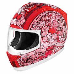 ICON Street Gear - Women's Alliance Cherrypop Full-Face Motorcycle Helmet - Cycle Gear $210