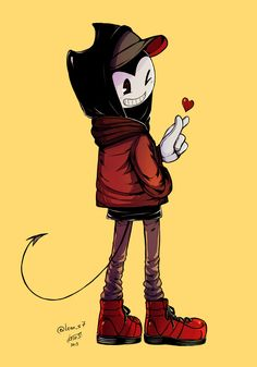 Cool bendy casual outfit kpop heart bendy and the ink machine clothes art by (Tanya) on DeviantArt Shadow The Hedgehog, Bendy Y Boris, Gamer Pics, Alice Angel, Dark Drawings, Just Ink, Mickey Mouse, Scary Art, Black Panther Marvel