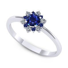 Aur, Flower Shape, Royal Blue, Sapphire, Shapes, Engagement Rings, Wedding, Jewelry, Ideas