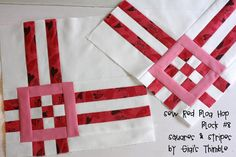 Block Tutorial - putting several together would make a nice table-topper with space for some decorative quilting.