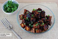 Tofu crujiente al horno con salsa de soja y miel Receta saludable  http://paraadelgazar.ws/tofu-crujiente-al-horno-con-salsa-de-soja-y-miel-receta-saludable/ Salud y Bienestar