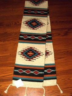 Southwestern Table Runner 30 16X80 Hand Woven Southwest Wool Geometric  Design | Southwestern Table Runners, Geometric Designs And Modern Table  Runners