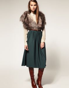 nix the boots and the fur, keep the skirt.