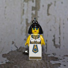 Cleopatra LEGO key chain by boxhounds on Etsy, $10.00