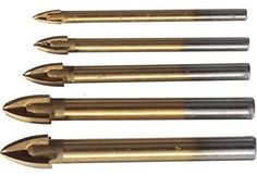 Material:YG6X Alloy Bit Type:Tile & Glass Drill Bit Coated:Titanium #Drill diameter:5mm,6mm,8mm, #10mm,12mm