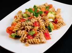 Italian Vegetable Pasta Salad: A light, flavorful cold pasta salad with fresh vegetables.  Perfect side dish for any barbecue or picnic.