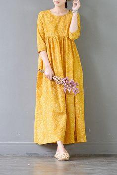 ideas style casual summer clothes for 2019 Linen Dresses, Cotton Dresses, Women's Dresses, Fashion Dresses, Loose Dresses, Dress Outfits, Simple Dresses, Casual Dresses, Casual Clothes