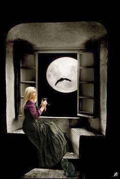 Magical full moon ***MAGICKÝ ÚPLNĚK*** vlastní tvorba