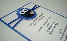 Cookie Monster  Sesame Street Birthday Invitation (1). $2.75, via Etsy.