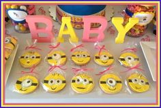 Despicable Me Baby Shower cookies
