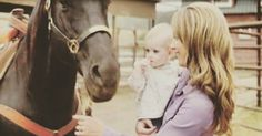 Amy,spartan,and the baby. #spartan #amyfleming #cbc #heartland #iloveheartland