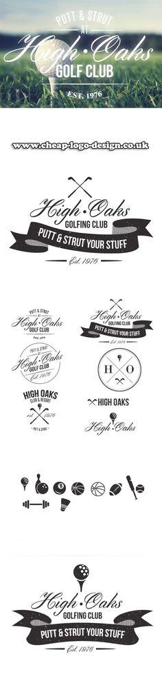 golf club logo design ideas www.cheap-logo-design.co.uk #golf #golfclublogo #logos: